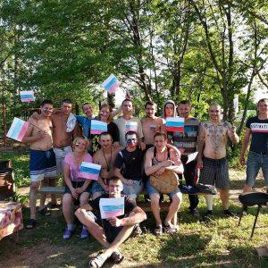Реабилитанты центра болеет за Россию
